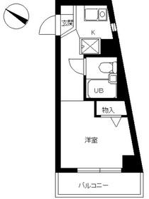 スカイコート新宿第102階Fの間取り画像