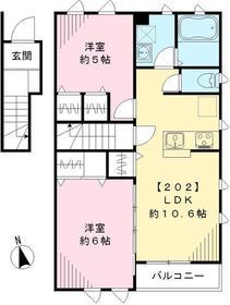武蔵小金井駅 徒歩21分2階Fの間取り画像