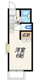 くーねる太子堂2階Fの間取り画像