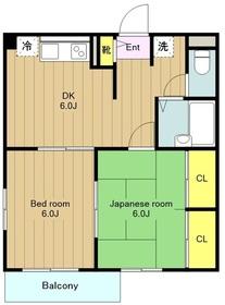鶴間駅 徒歩2分2階Fの間取り画像