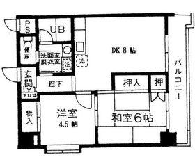 トレゾァ横浜8階Fの間取り画像