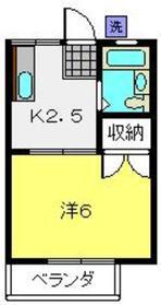 フローラハイツ2階Fの間取り画像