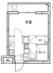 B CITY YOKOHAMA RIVERSIDE3階Fの間取り画像