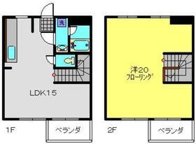 武蔵小杉駅 バス10分「黄金塚」徒歩1分1階Fの間取り画像