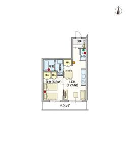 (シニア限定)ヘーベルVillage椎名町4階Fの間取り画像