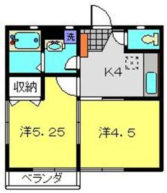 ガジュマルアパート1階Fの間取り画像