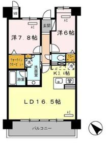 ロイヤルパークス豊洲4階Fの間取り画像