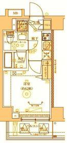 ベルシード横濱吉野町マキシヴ4階Fの間取り画像