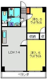 新川崎駅 徒歩20分2階Fの間取り画像