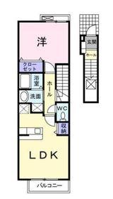 鶴ヶ峰駅 徒歩12分2階Fの間取り画像