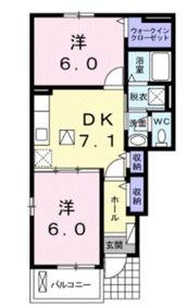 アムールB1階Fの間取り画像