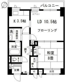 パンニャマンション1階Fの間取り画像