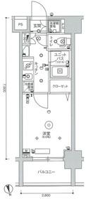 スカイコート蒲田ガーデン5階Fの間取り画像