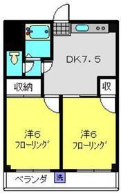 サンライズマンション2階Fの間取り画像