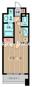 KDXレジデンス神楽坂4階Fの間取り画像