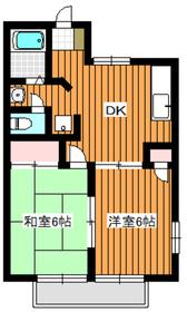 朝霞駅 徒歩17分2階Fの間取り画像