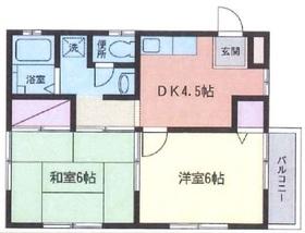 武蔵小杉駅 徒歩14分2階Fの間取り画像