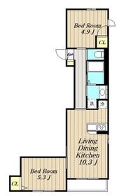 ル・クラージュ2階Fの間取り画像