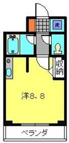 ティーリーフ横浜レジーナ2階Fの間取り画像