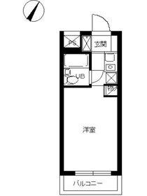 スカイコート鶴見第51階Fの間取り画像