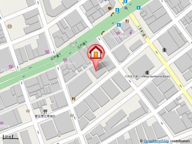小伝馬町駅 徒歩2分案内図