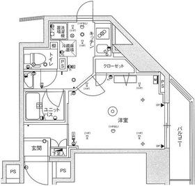 スカイコートパレス蒲田7階Fの間取り画像