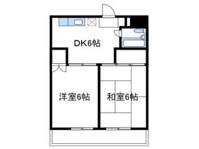 野村マンション1階Fの間取り画像