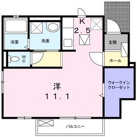 プラシード鎌倉1階Fの間取り画像