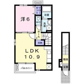 ボニート2階Fの間取り画像