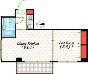 パークヒル用賀2階Fの間取り画像
