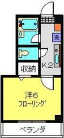 綱島駅 徒歩12分2階Fの間取り画像
