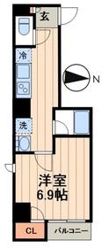 デュオメゾン菊川6階Fの間取り画像