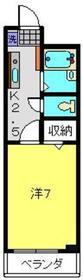 ベルナス上大岡3階Fの間取り画像