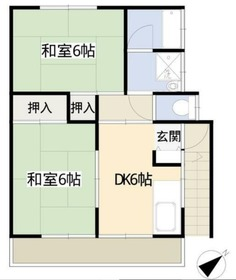 ハイツニシヤマ2階Fの間取り画像