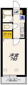 SAKURAハイム1階Fの間取り画像
