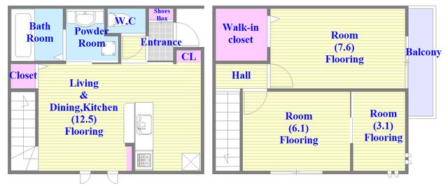 D-roomVerde システムカウンターキッチン。広い間取で素敵な設備が充実、ファミリーにオススメですよ。