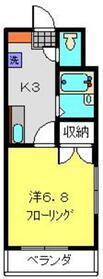 オークランドYK3階Fの間取り画像