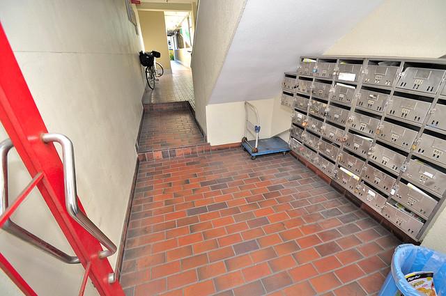 メゾン・ダイコー エントランス内にある各部屋毎のメールボックス。