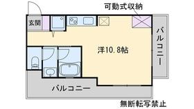 西新ROOMS2階Fの間取り画像