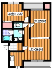 ブリリアK・N2階Fの間取り画像