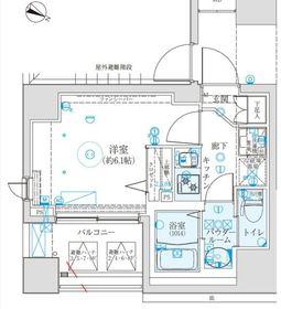 クレイシア西横浜4階Fの間取り画像