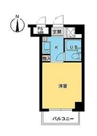 スカイコート横浜駅西口8階Fの間取り画像
