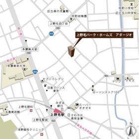 上野毛パーク・ホームズ アダージオ案内図