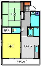 ガーデンハウスハマダA棟2階Fの間取り画像