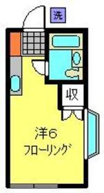 ソーシィー和泉1階Fの間取り画像