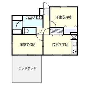 鎌倉ガーデン弐番館1階Fの間取り画像