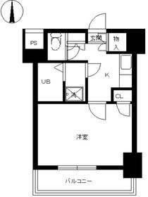スカイコート神田第311階Fの間取り画像