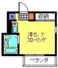 元住吉駅 徒歩4分2階Fの間取り画像
