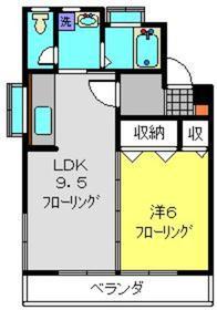ヒドロビル2階Fの間取り画像