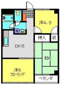 西綱島グリーンハイツ2階Fの間取り画像